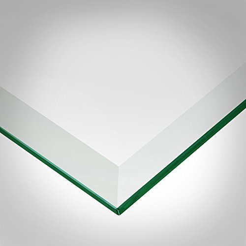 Dulles Glass and Mirror Square Glass Table Top 1/2'' (12mm) Thick Beveled Polish Edge Eased Corners, Tempered, 20'' Inch, Clear by Dulles Glass and Mirror (Image #1)