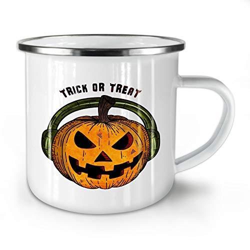 Halloween Music Evil Audio White Enamel Mug Drinking Cups 11 -