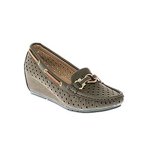 CALICO KIKI Women's Slip-On Comfort Casual Nubuck Moccasin Slipper Wedge Loafers