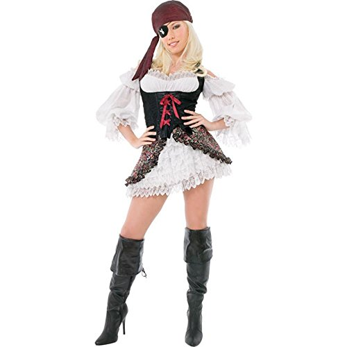 Playboy Brand Costumes (Playboy Sexy Buccaneer Pirate Costume (Size: X-Small 2-4))