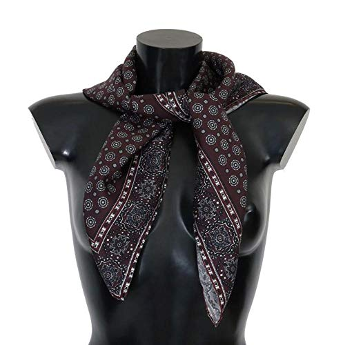 Dolce & Gabbana - Bordeaux Silk Print Scarf