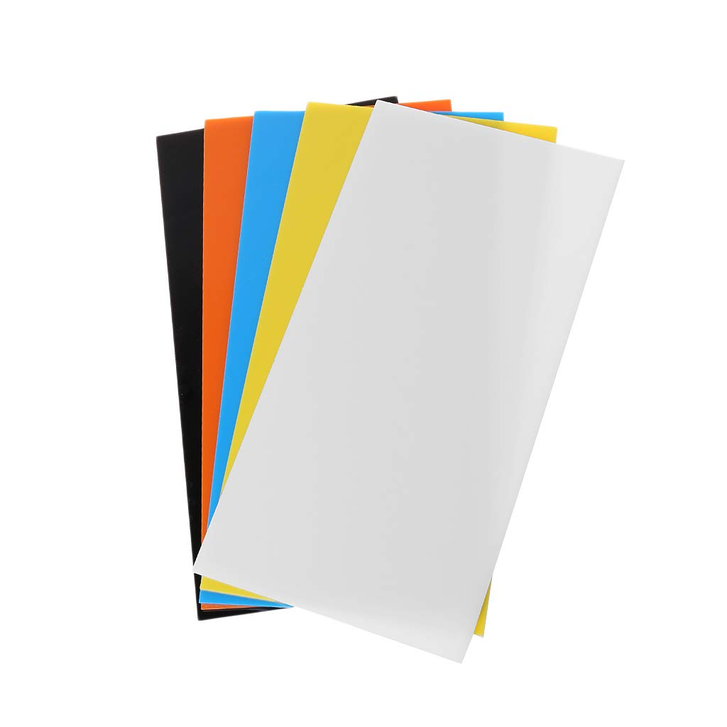 Modellbau blau 10 x 20 cm Ycncixwd Plexiglas-Board zum Basteln von Spielzeug Acryl-Blatt