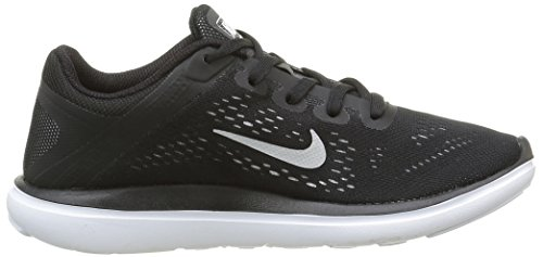 NIKE Kids Flex 2016 Rn (GS) Running Shoe Black/Metallic Silver/White official site for sale genuine for sale big sale sale online outlet get authentic free shipping prices QYtp6Z80g
