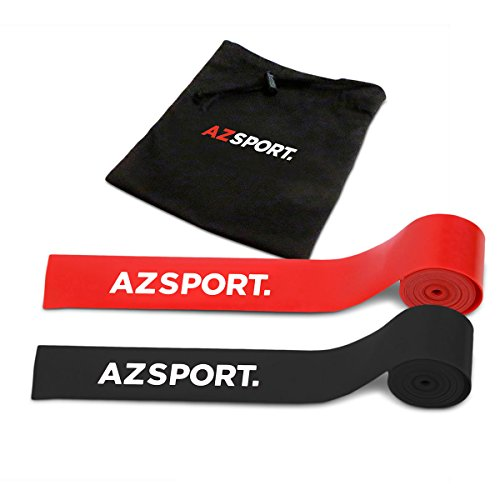 AZSPORT. Resistance Bands for Legs and Butt, 2 Pack Stretch Bands with Carrying Case