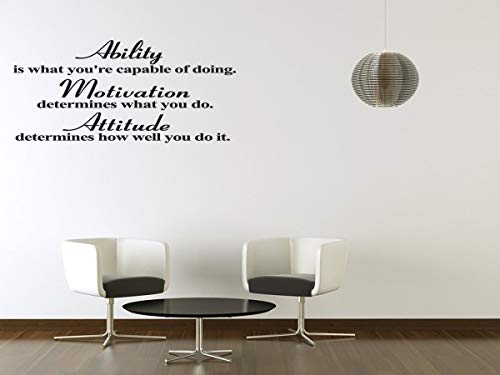 Dozili Wall Decal Quote Attitude Ability Inspirational Vinyl Wall Quote Decal Sticker Art Home Decor 28