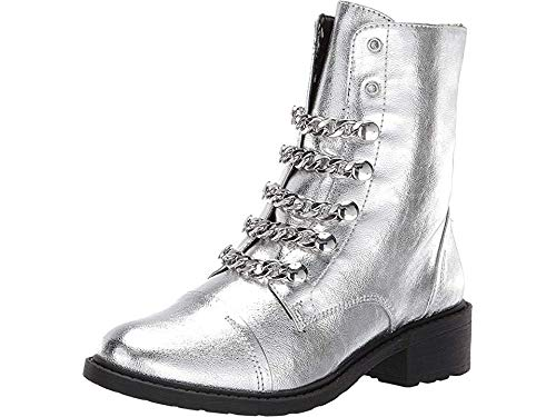 - Circus by Sam Edelman Women's Dacey Fashion Boot Soft Silver Metallic Crackle 8.5 M US