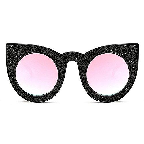 légères la Wenjack Soleil UV été Les Crystal Vacances Rétro surdimensionné de Lunettes Protection Rose Ultra extérieure Conduite Soleil Yeux Plage Cat Lunettes Femmes de tFFUT