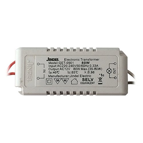 80w Electronic Transformer (Jindel Electronic Halogen Low Voltage Transformer, 12V 80W 220V)