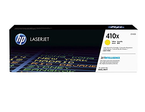 HP 410X (CF412X) Toner Cartridge, Yellow High Yield for HP Color LaserJet Pro M452dn, M452dw, M452nw, MFP M377dw, MFP M477fdn, MFP M477fdw, MFP M477fnw