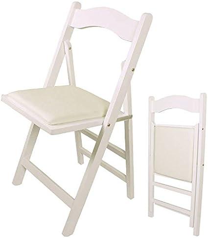 SoBuy® Sedia pieghevole, sedia da cucina, legno,bianco, FST06 W, IT