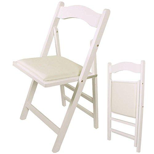 Klappstuhl, Stuhl, Holzstuhl,Küchenstuhl, FST06 weiß
