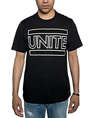 Sean John Men's Unite Rhinestone Graphic T-Shirt. Unite