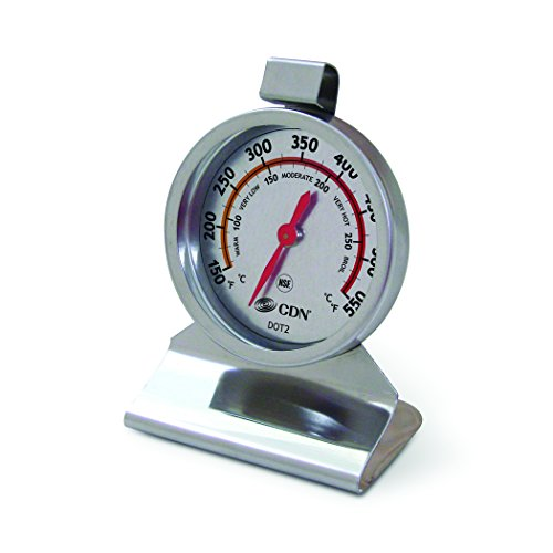 Certified Thermometer (CDN DOT2 ProAccurate Oven Thermometer – Large Dial, Stainless Steel, NSF Certified)