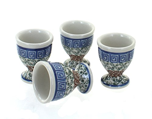 Blue Rose Polish Pottery Athena Egg Cup Set