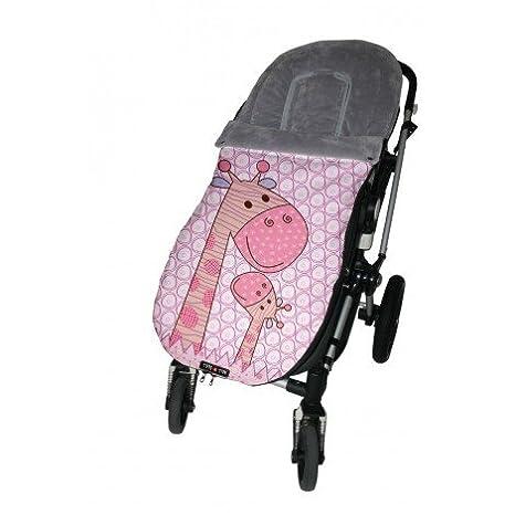 Tris&Ton Saco funda silla de paseo universal para bebe modelo New Friends Centre, Saco funda cochecito con forro polar impermeable invierno Saco de abrigo ...