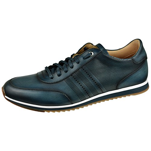 Magnanni Men's Shoes Perforated Sneaker 9 M Navy