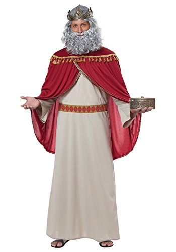 California Costumes Men's Melchior, Wise Man (Three Kings) -Adult Costume, Red/Cream, -