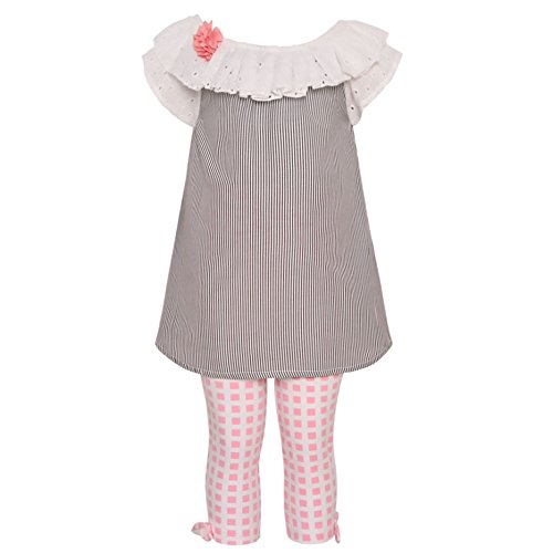 Rare Editions Little Girls' Soutach Dress, Silver, ()