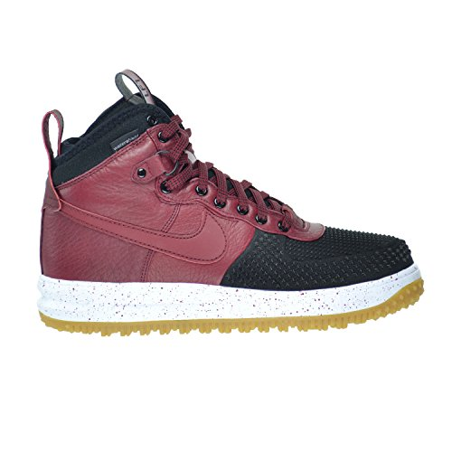 good Nike Lunar Force 1 Duckboot Men's Shoes Black/Team Red-White-Gum
