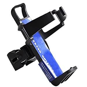 Baiyu Adjustable Bicycle Bike Water Bottle Cage Holder Quick Release Plastic Steel Rack Bracket Drink Bottle Mount Carrier Cycling Handlebar Component Support Kit 3 Colors- Black