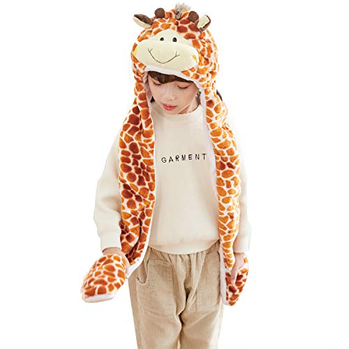 PULAMA Winter Animal Hat Set Cap 3-17yr Kids Cosplay Party Costume Toy -Giraffe ()