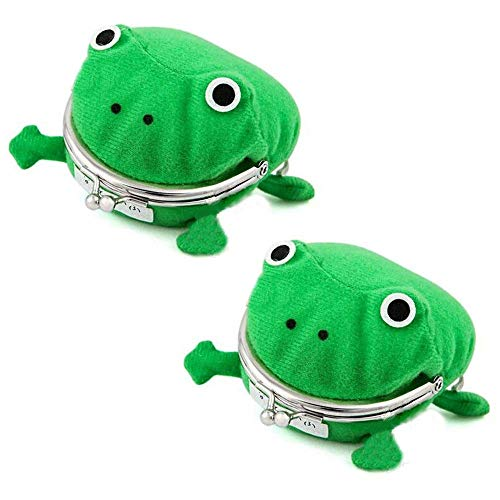 Naruto Uzumaki Ninja Green Frog Coin Bag Wallet Purse Cosplay Anime Plush (2-Pack) (Purse Naruto Frog)