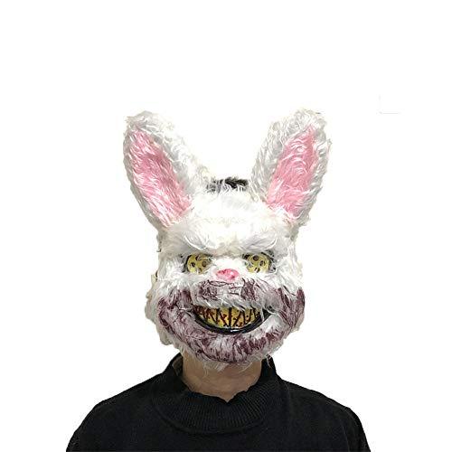 Giant Rabbit Costumes Scary - Halloween Plush Animal Head Mask Scary