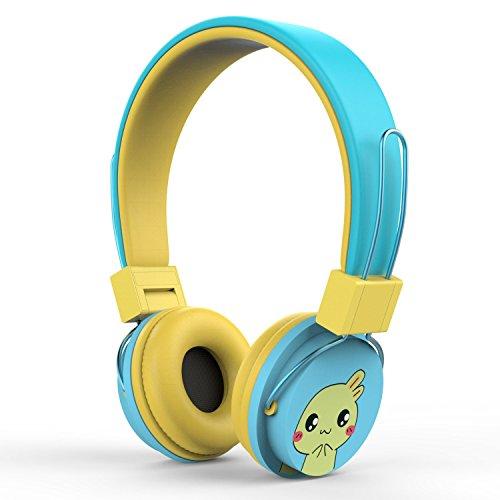 MoKo Kinder Kopfhörer - 1.5m / 4.9ft On-Ear-Kopfhörer Music Gaming Wired Leichtkopfhörer Headset Headphone mit Lautstärkenregler für IOS / Android Smartphones, Tablets, Computer, MP3 / 4 Players, Blau