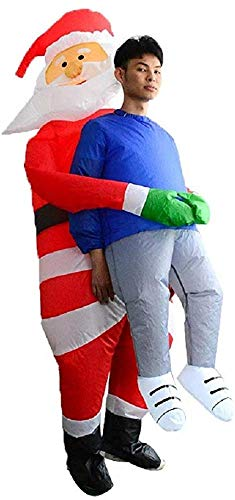 Akiimy Christmas Inflatable Santa Costume Blow Up Santa Dress for Christmas Party/Christmas Decoration /Cosplay/Birthday Cosplay Fancy Dress up Suit (Christmas Santa Claus Costume) (Christmas Party For Costumes)
