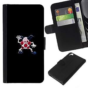 All Phone Most Case / Oferta Especial Cáscara Funda de cuero Monedero Cubierta de proteccion Caso / Wallet Case for HTC Desire 820 // Poke Monster Red Dots