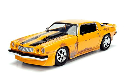 Camaro Car Concept (NEW 1:24 JADA TOYS DISPLAY METALS - TRANSFORMERS COLLECTION - Bumblebee - Yellow 1977 Chevrolet Camaro Concept Diecast Model Car By Jada Toys (WITHOUT RETAIL BOX))