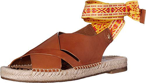 (Sam Edelman Women's Alisha Sandals, Saddle, Tan, Yellow, 8.5 M US)