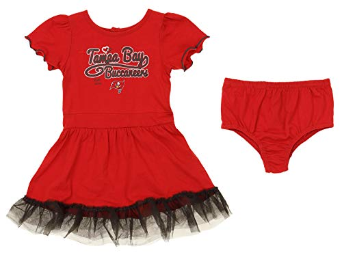 Outerstuff NFL Girl's Infant & Toddler (12M-4T) 2 Piece Dress, Tampa Bay Buccaneers 12 Months