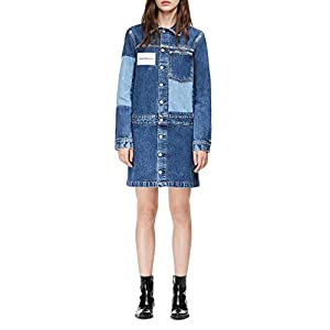Calvin Klein Women's Long Sleeve Denim Dress