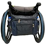 Wheelchair Backpack Bag - Great Accessory Pack for Your Mobility Devices. Fits Most Scooters,Blue Black(32x31x12 cm)