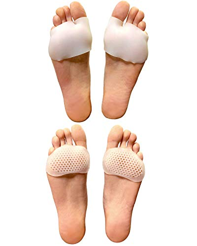 Dr. Smithsons Original Metatarsal Pads, 1 Pair of Half Toe Sleeves and 1 Pair Metarsal Pads for Women and Men | Relieve Blisters, Mortons Neuroma Pads, and Sesamoidoitis. 2 Pair Metarsal Support Pads