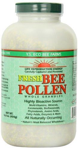 Y.S. Eco Bee Farms Fresh Bee Pollen Whole Granules - 16 o...