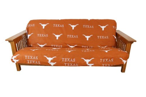 College Covers Texas Longhorns Futon Cover - Full Size fits 6 and 8 inch mats (Futon Cover Bright)