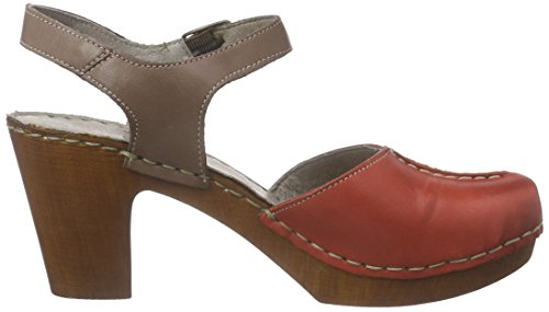 Manitu 920218 - sandalias cerradas Mujer Rojo - rojo (rojo)