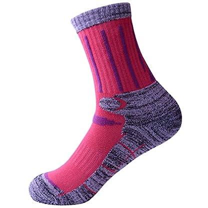 3 Pairs Men Women Hiking Walking Socks - UK Size 2-6.5, Anti Blisters, Soft, Warm, Comfortable, Breathable Nature Cotton… 6