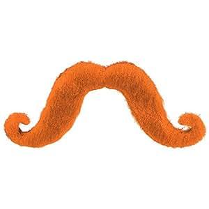 "Amscan Party Perfect Team Spirit Handle-Bar Style Moustache Accessory (1 Piece), Orange, 5.75 x 4"""