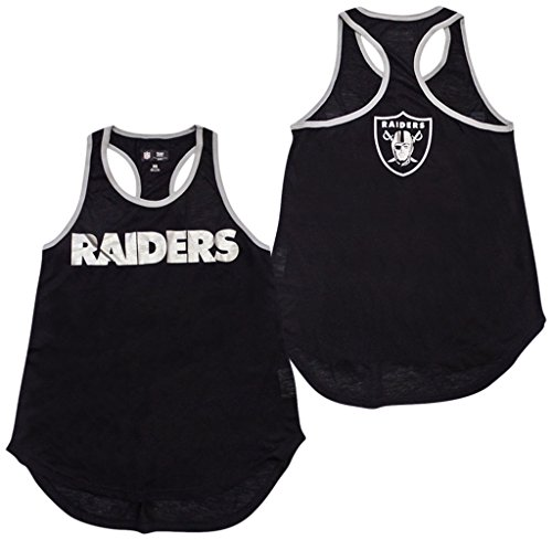 Oakland Raiders Tank - GIII Apparel Oakland Raiders Women's Black Game Time Racerback Tank Top X-Large