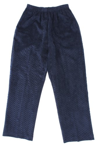 picture of Alfred Dunner Classics Elastic Waist Corduroy Pants Navy 16P M