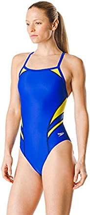Speedo Womens Swimsuit One Piece Powerflex Flyback Solid Adult Team Colors