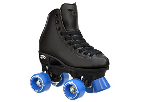 Riedell Wave Boys Black Skates - Riedell Wave Black Quad Roller Skates by Riedell
