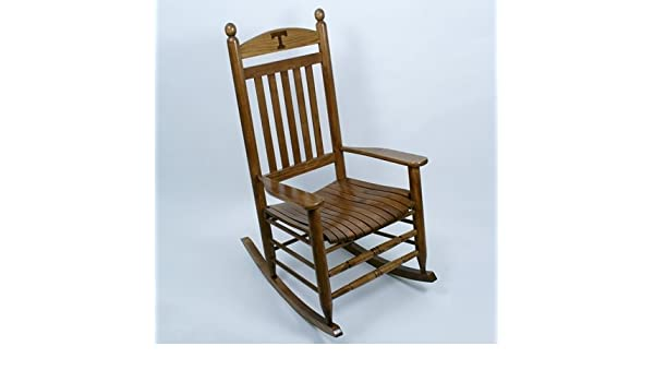 Groovy Amazon Com Tennessee Volunteers Rocking Chair Maple Dailytribune Chair Design For Home Dailytribuneorg