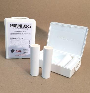 HUMO PERFUMADO AX-18 (caja con 5 cartuchos). ENVÍO GRATIS por la compra de 2 o mas artículos de humo técnico de nuestro catálogo.