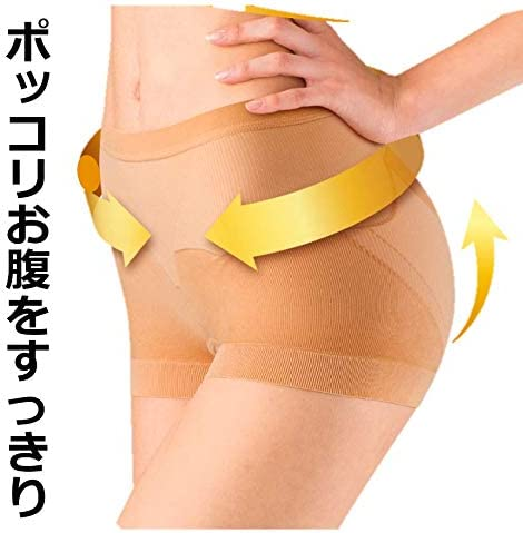 Shorts M size natural beige to support exactly the slim walk pelvisAF27 Japan Socks Stockings and Foot Care