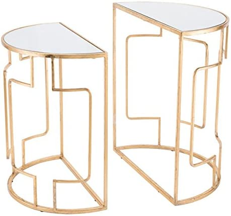 Zuo Roma Side Tables Set of 2 , Gold