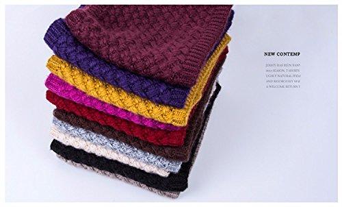 (casa shop Winter Scarf Knitted Scarves Plus Velvet Cotton Neck Warm )